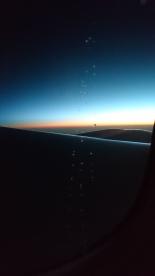 Sunrise on my flight to Seoul, Korea