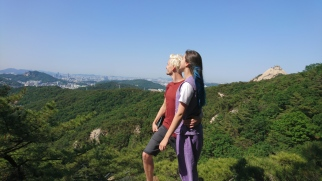 Me and Roberto on a mountain near a Temple
